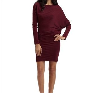 BCBG MaxAzria Long Sleeve Drapey Bodycon Dress